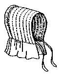 Slat Outing Bonnet Pattern-outing bonnet, bonnet pattern, amish, old-fashioned, pioneer, amish, pattern, patterns, for, sca