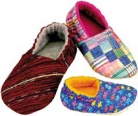 Foot Prints - Cozy Slippers-Foot Prints - Cozy Slippers