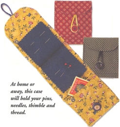 Becky's Needle Case with Pocket-Becky's Needle Case with Pocket